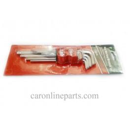 ประแจแอล 6เหลี่ยมยาว 9ชิ้น 1.5-10mm. No.WฺHBD0309 CONSO (Hex Key Wrench Set)