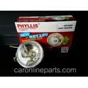 ไฟสปอร์ตไลท์-กลมเล็ก  24V H3 70W เลนส์สีขาว ขนาด 3นิ้ว  PHYLLIS (HY009W24)