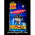 หลอดไฟเสียบ LED 12V  T10, 158  สีน้ำเงิน No.BL10B B-TECH