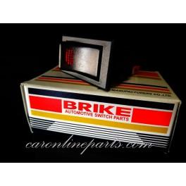 สวิทไฟเหลี่ยมใหญ่มีไฟ ON-OFF 3ขา 24V สีแดง No.BS02 BRIKE
