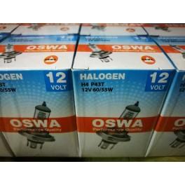 หลอดไฟหน้า H4 12V 60/55W No.P43T OSWA