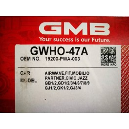 ปั๊มน้ำ HONDA CITY-JAZZ'03-06 No.GWHO-47A GMB