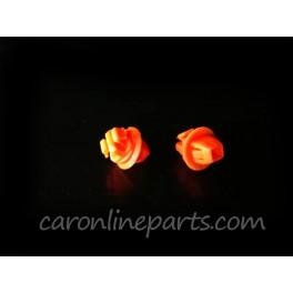กิ๊บบังฝุ่นล้อ TIGER D4D (ตัวสั้นสีส้ม) No.i56 (แพ็คละ 10ตัว)