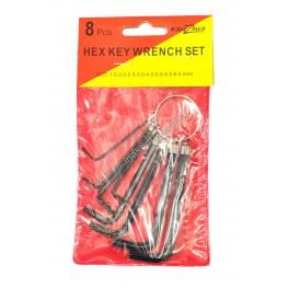 ประแจแอลพวงกุญแจ 8 ตัวชุด (Hex Key Wrench Set)